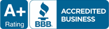 A+ Rating, Accredited Business, Better Business Bureau